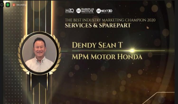 Beri Layanan Terbaik ke Konsumen, MPM Honda Jatim Raih Penghargaan IMF 2020