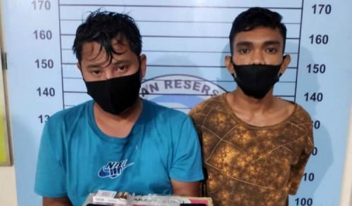 Dua Bandar Narkoba Ditangkap Polisi Disebuah Warung di Aceh Utara
