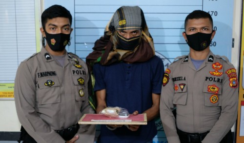 Pengembangan Kasus, Satres Narkoba Polres Aceh Utara Tangkap Pengedar Sabu