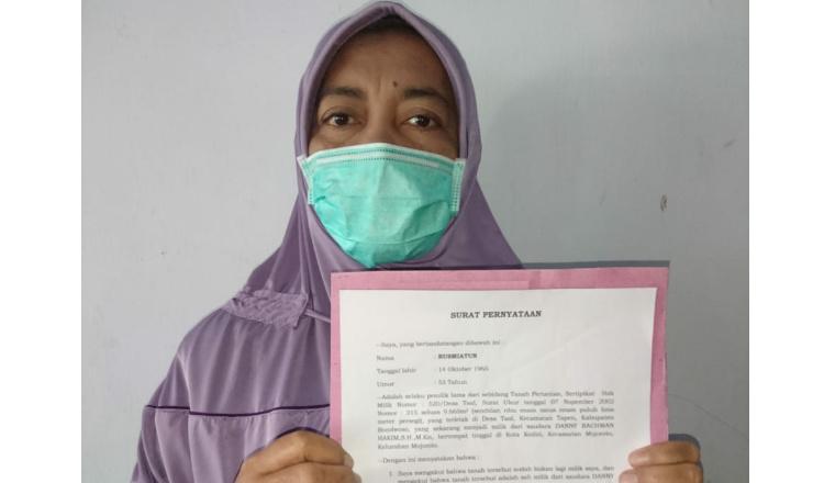 Pinjamkan Sertifikat Tanah ke Teman, Seorang Ibu di Bondowoso Harus Nebus 350 Juta