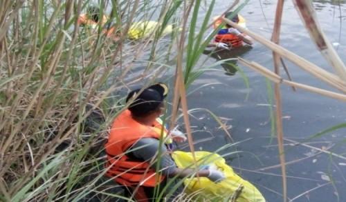 World Cleanup Day Kota Mojokerto, Gerakan Bersih Sampah di Sungai Prajurit Kulon