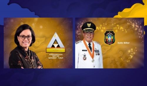 WTP 10 Kali Berturut-turut, Wali Kota Blitar Santoso Dapat Penghargaan Menkeu Sri Mulyani