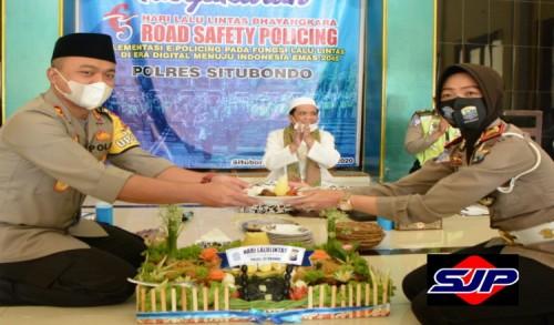 Polres Situbondo Gelar Doa Bersama Dalam Rangka HUT ke-65 Lalu Lintas Bhayangkara