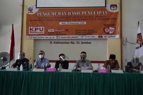 KPU Jember Tetapkan Tiga Paslon Bupati dan Wakil Bupati