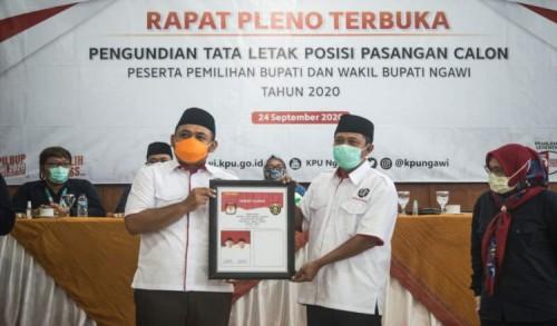 Pilkada Ngawi Pasangan OK Dapat Posisi Kiri Pada Kertas Surat Suara Pencoblosan