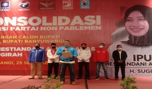 Enam Aliansi Parpol Non Parlemen di Banyuwangi Dukung Pasangan Ipuk - Sugirah