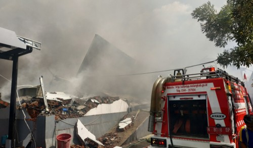 Gudang Popok di Karangploso Malang Ludes Terbakar