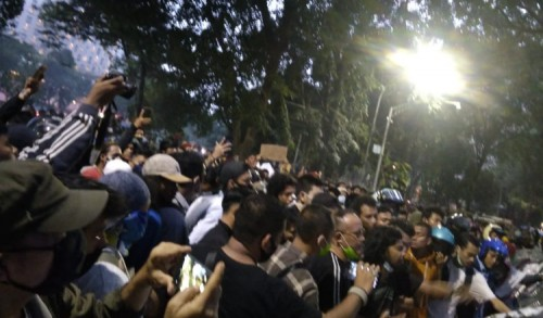 Bandel! Aksi Aliansi Aktivis Kota Medan Dibubarkan Paksa