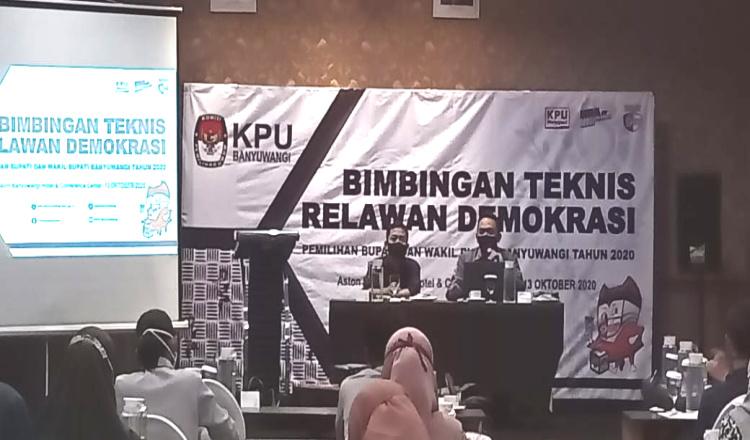 KPU Banyuwangi: Relawan Demokrasi Diharapkan Bisa Tingkatkan Partisipasi Pemilih