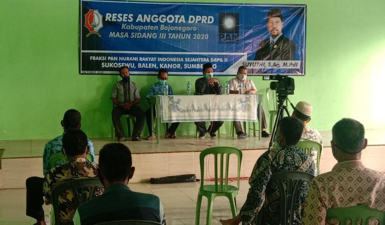 Reses Masa Sidang Tiga, Suyuthi Anggota DPRD Bojonegoro Sampaikan Capaian Kinerja Pemkab