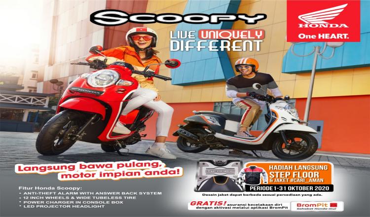 Promo Sumpah Pemuda, MPM Honda Jatim Berikan Potongan Angsuran untuk Pembelian Honda Scoopy.