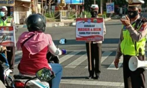 Satlantas Polres Bondowoso Sosialisasi Prokes Covid-19