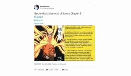 Dikabarkan Mati, Naruto Ramai Diperbincangkan Warga Net