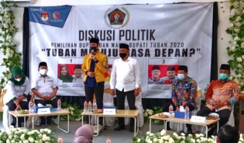 PWI Tuban Hadirkan 3 Paslon Pilkada 2020 Untuk Diskusi Politik
