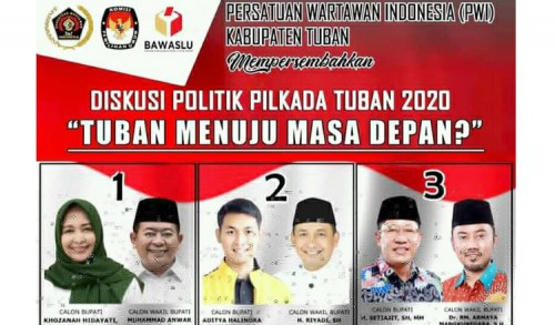 PWI Tuban Gelar Diskusi Politik Dengan Tiga Cabup dan Cawabup