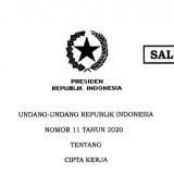 Jokowi Resmi Tandatangani UU Cipta Kerja