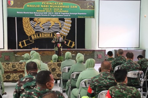 Kodim 0823/Situbondo Gelar Maulid Nabi Muhammad SAW