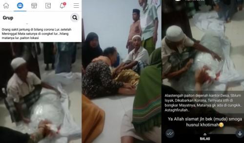 Viral Video Jenazah Covid-19 Dicongkel Matanya, Ini Kata Polisi
