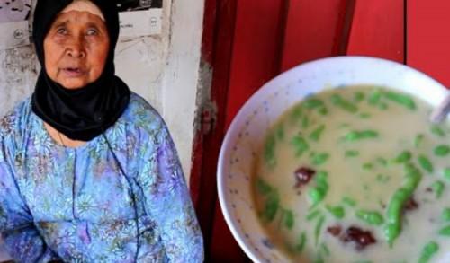Nenek Usia 60 Tahun Jual Dawet Ketan Hitam, Bikin Ketagihan