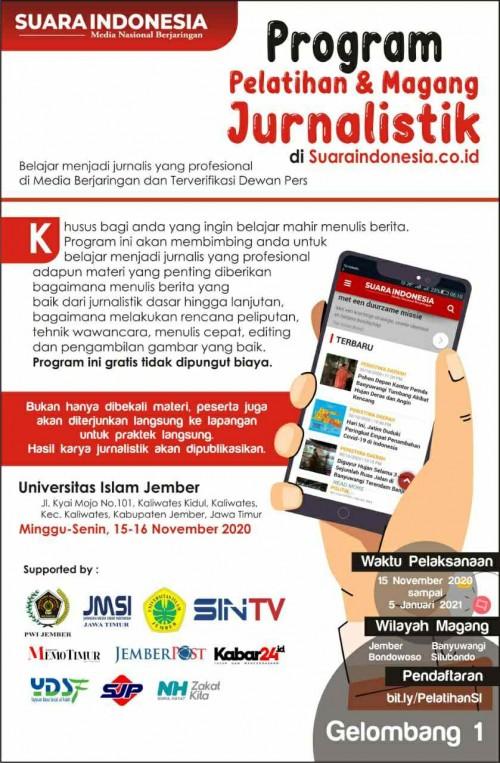 Pendaftar Membludak, Pelatihan Jurnalistik Suara Indonesia akan Dibuka 3 Gelombang
