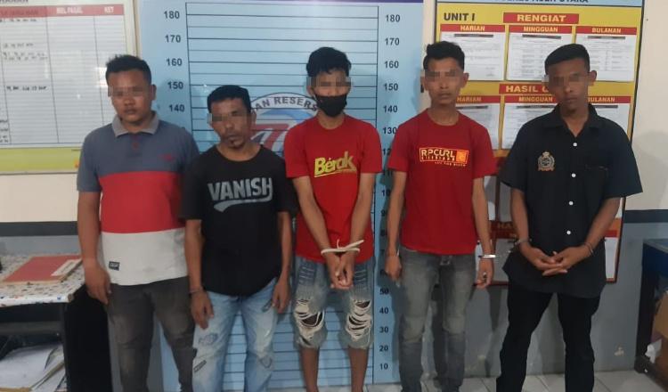 Lima Pemuda Aceh Utara Digerebek Polisi Sedang Nyabu