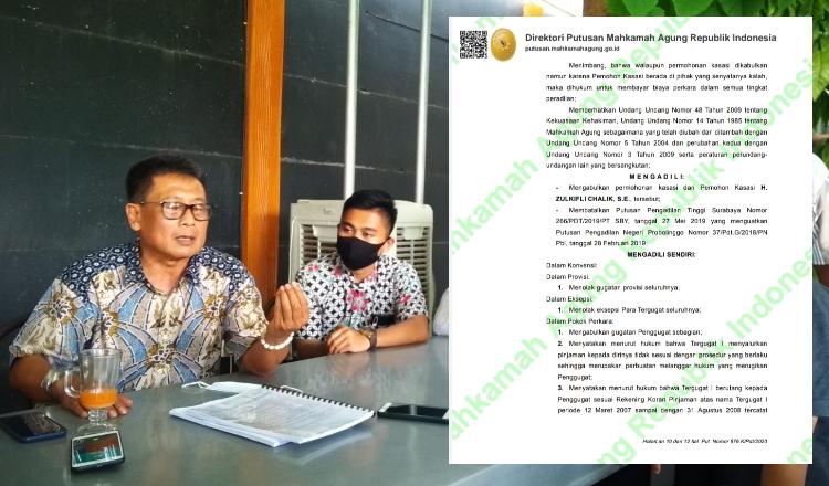 Dijatuhi Hukuman MA, Mantan Ketua KSU Mitra Perkasa Zulkifli Chalik Akan Ajukan PK