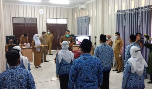 648 PNS Aceh Timur Diambil Sumpah Secara Virtual