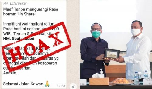 Hoax, Kabar Wakil Wali Kota Probolinggo Meninggal