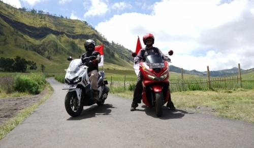 MPM Honda Jatim Ajak Komunitas Napak Tilas Honda Bikers Day