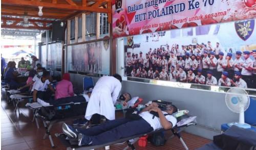 Dit Polairud Polda Papua Gelar Donor Darah