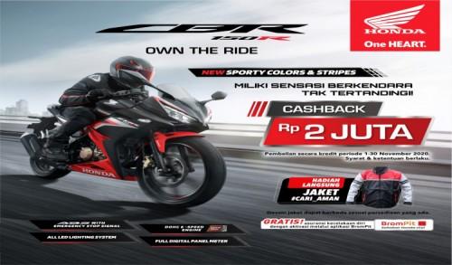 Yuk Nikmati Promo Cashback Untuk Pembelian Motor Sport Honda