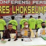 Polres Lhokseumawe Ungkap 11 Kasus Narkotika Selama Dua Bulan