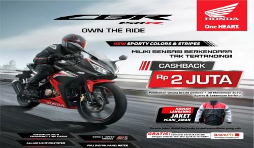 Promo Cashback Untuk Pembelian Motor Sport Honda.