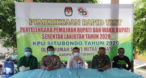 Sebanyak 629 Panitia Pemilihan Bupati dan Wakil Bupati se Kecamatan Mangaran Ikuti Rapid Test