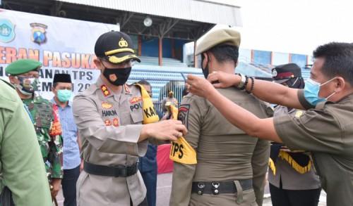 Komitmen Ciptakan Pilkada Lamongan Damai di Tengah Pandemi, 1.455 TNI Polri Siaga di TPS