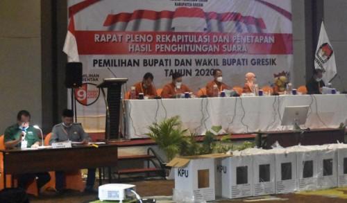 Rekapitulasi KPU Gresik Rampung, Paslon Niat jadi Pemenang