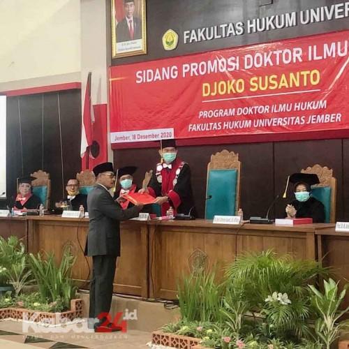 Djoko Susanto Raih Gelar Doktor Ilmu Hukum  Bidang Pertanahan Universitas Jember