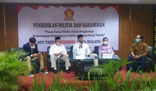Pulihkan Kepercayaan Publik, DPC Gerindra Kota Malang Gelar Pendidikan Politik