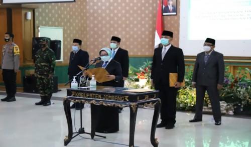 Lantik 491 Pejabat Secara Virtual, Bupati Jombang: Ayo beri yang terbaik