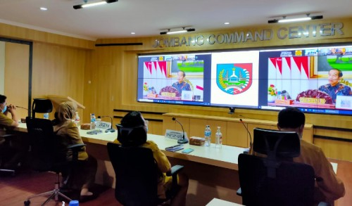Bupati Jombang Ikuti Rakernas Pembangunan Pertanian 2021 Secara Virtual