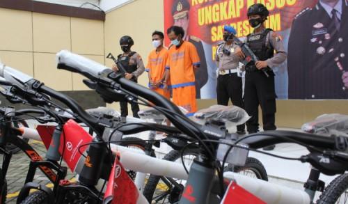 Sopir Ekspedisi Gelapkan Sepeda MTB 171 Unit Merk Exotic di Sidoarjo