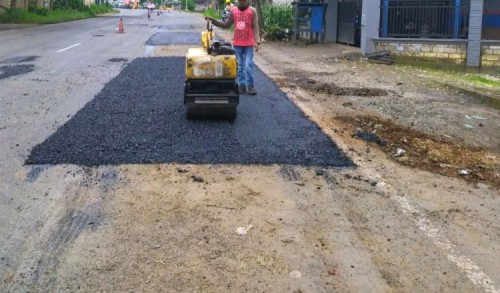 Respon Cepat PPK 4.5 Tambal Jalan Berlubang di Jalur Nasional Tuban-Babat