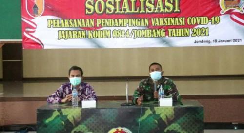 Kodim 0814 Jombang  Mengelar Sosialisasi Program Vaksinasi Covid 19