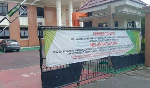 Pelayanan di PN Jombang Ditutup Untuk Satu Minggu