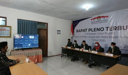 Sah, Gus Ipin dan Syah Ditetapkan KPU Trenggalek Sebagai Paslon Terpilih