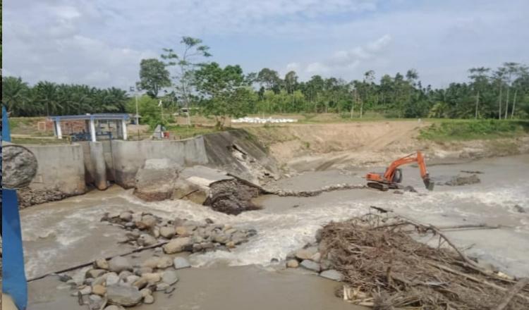 Perbaikan Bendungan Irigasi Krueng Pase Aceh Utara Belum Bisa Dinikmati oleh Petani