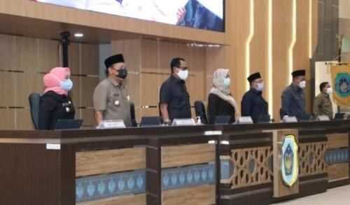 DPRD Lamongan Rapat Paripurna Istimewa Pemberhentian Bupati dan Wakil Bupati Masa Jabatan 2016-2021