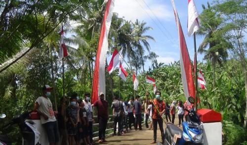 Puluhan Pemuda di Purworejo Desak Pemerintah Tangkap Pelaku Pembakaran Bendera Merah Putih