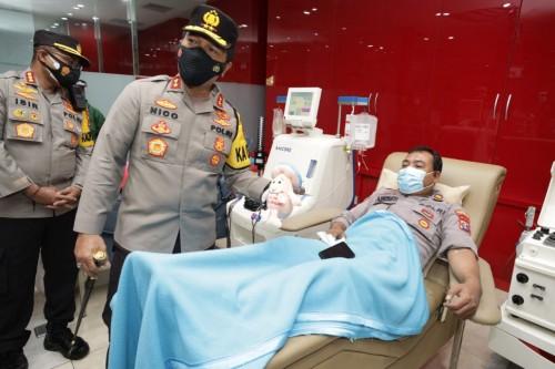 Kapolda Jatim Cek Anggota Polda Jatim yang Donor Plasma Konvalesen