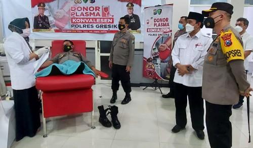 Polres Gresik Ajak Penyintas Jadi Pahlawan Covid-19